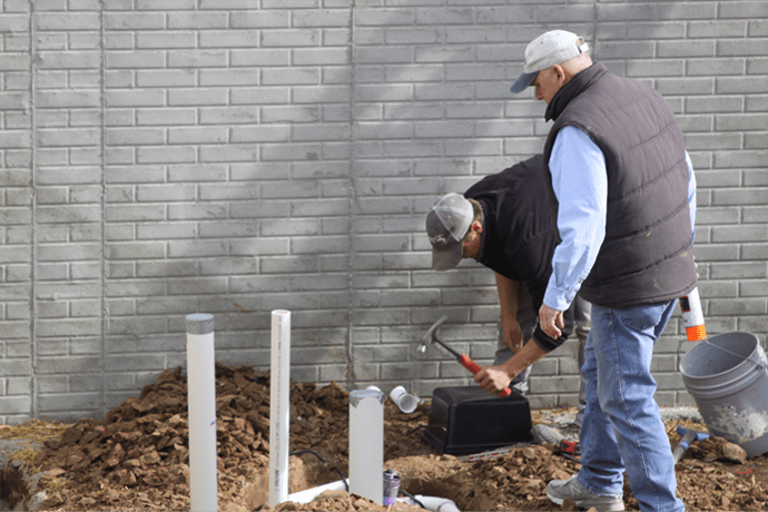 Exterior Water Pipe construction
