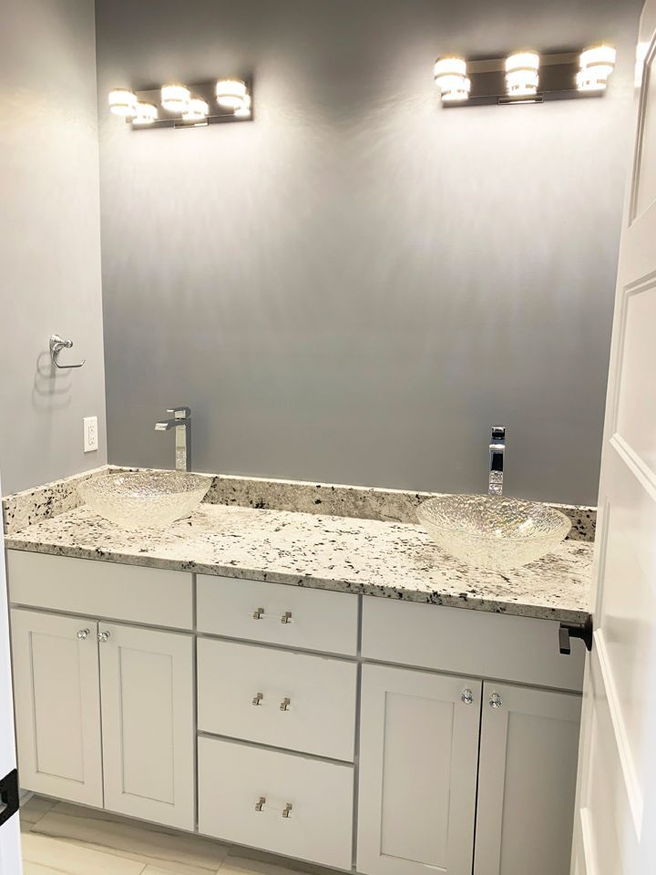 remodel master bathroom double sinks