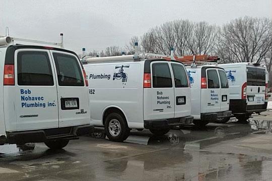 Bob Nohavec Plumbing Service Vans